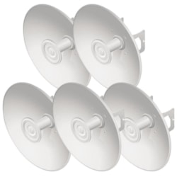 Ubiquiti *New* PrismStation / IsoStation / Ltu Compatible 27 dBi Hi-Gain Reflector Dish With Mounting Kit - 5 Pack