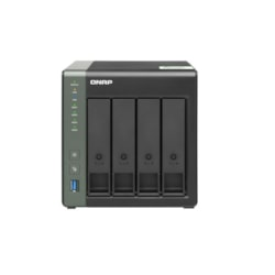 Qnap TS-431KX-2G 4-Bay TurboNAS,Alpine Al-214 Arm V7 Quad-Core 1.7GHz Cpu, 2GB Ram, Sata 6Gb/s,1 X 10GbE SFP+, 2X GbE Lan, 3 X Usb3.0, HDD Hot-Swap, 2YR Ar WTY