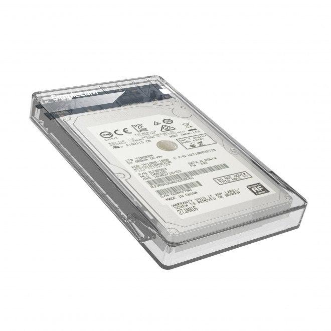 Simplecom Se203 Tool Free 2.5' Sata HDD SSD To Usb 3.0 Hard Drive Enclosure - Clear Enclosure