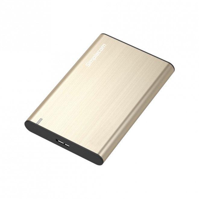Simplecom Se211 Aluminium Slim 2.5'' Sata To Usb 3.0 HDD Enclosure Gold