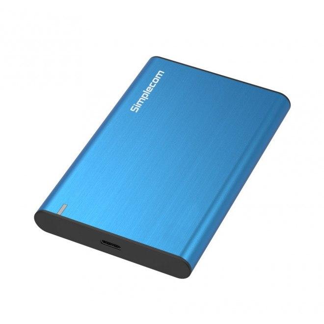 Simplecom Se221 Aluminium 2.5'' Sata HDD/SSD To Usb 3.1 Enclosure Blue