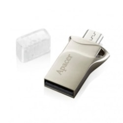 Apacer Ah173 8Gb Silver Hybrid Mobile Usb Flash Drive. Micro Usb+Usb Dual-Interfaces. Supports Andriod Devices And Pc