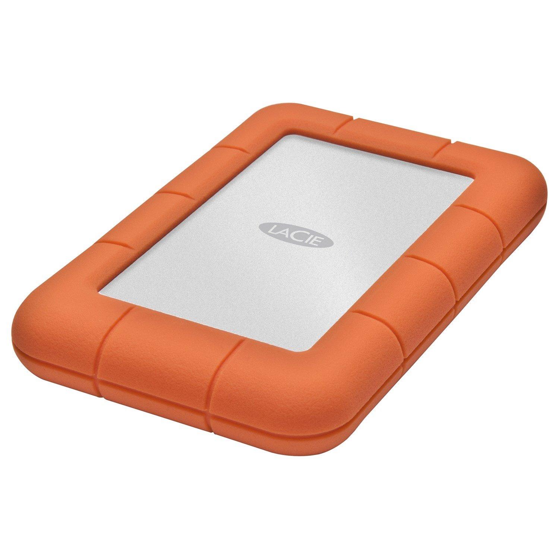 """LaCie Rugged Mini 301558 1TB 2.5"""" External Hard Drive with BONUS 8GB PetiteKey"""