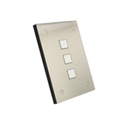 Leviton Security & Automation Omni-Bus 3-Button Wall Switch Brushed Stainless