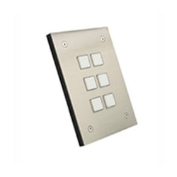Leviton Security & Automation Omni-Bus 6-Button Wall Switch Brushed Stainless