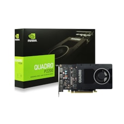 Leadtek nVidia Quadro P2200 PCIe Workstation Card 5GB DDR5 4xDP 1.4 4x4096x2160@120Hz 160-Bit 200GB/s 1280 Cuda Core Single Slot