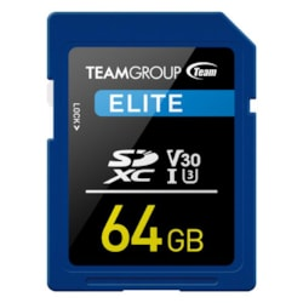 Teamgroup Elite SDXC Uhs-I U3 64GB High Speed Memory Card