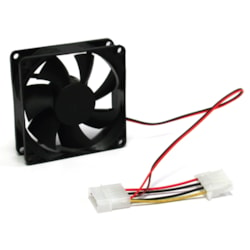 Aywun 80MM Silent Case Fan - Keeps Case And Component Cool. Molex Connector. Bulk Pack. No Screw Included. Molex 4Pin