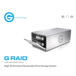 HGST G-Raid High Performance Removable 8TB Dual Drive Storage System, 2X Firewire, Esata, Usb 3.0. 300MB/s, Raid 0, 1, Or Jbod.