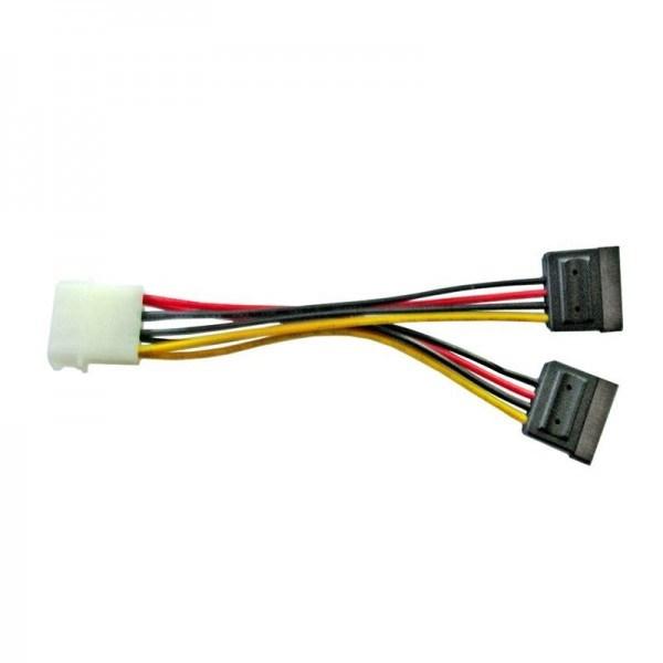 8Ware Molex Power Splitter Cable 1 X Molex F To 2 X Sata Iii 15Pin - 15CM