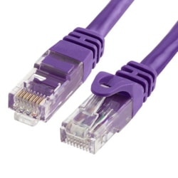 Cabac 2M Cat6 RJ45 Lan Ethernet Network Snagless/Moulded Purple Patch Lead