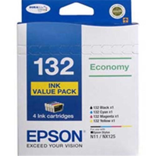 Epson 132 Economy Value Pack 4 Inks, N11,NX125,DuraBrite