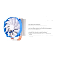 Silverstone Ar07 14CM PWM Low Noise 3 Heatpipe Cpu Cooler, Compatible 2011, 2066, 1150, 1151, 1155, FM2, Am4. Height 159MM, 31.4 To 93 CFM
