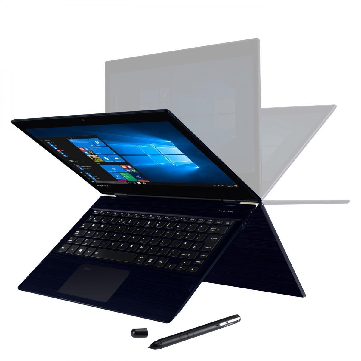 "Toshiba Portege X20W-E 31.8 cm (12.5"") Touchscreen LCD 2 in 1 Notebook - Intel Core i5 (8th Gen) i5-8250U Quad-core (4 Core) 1.60 GHz - 8 GB LPDDR3 - 256 GB SSD - Windows 10 Pro 64-bit - 1920 x 1080 - Convertible - Blue Black Hairline"