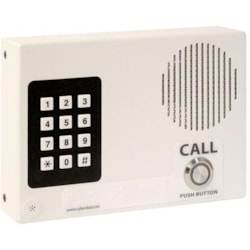 CyberData Single Button Wall Mounted VoIP Intercom With Keypad, PoE And Signal White Housing