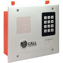 CyberData Single Button Flush Mounted VoIP Intercom With Keypad, PoE And Signal White Housing