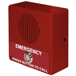 CyberData Single Button VoIP Emergency Intercom PoE Powered With Red Housing