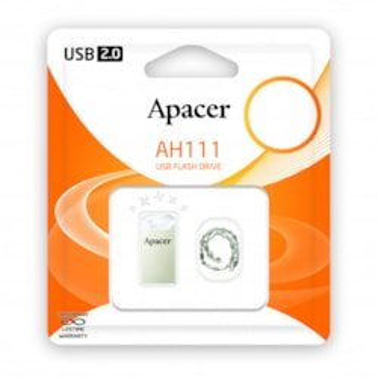 Apacer Ah111 32GB White Usb2.0 Ultra Slim Usb PenDrive
