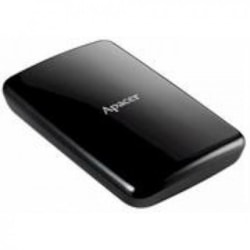 """Apacer Ac233 2TB HDD Usb 3.0 2.5"""" Ext Hard Disk, Black, Retail Package"""