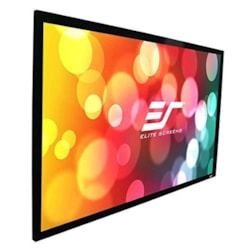 """Elite Screens 92"""" Fixed Frame 16:9 Projector Screen, Cinewhite, Sable Frame B2"""