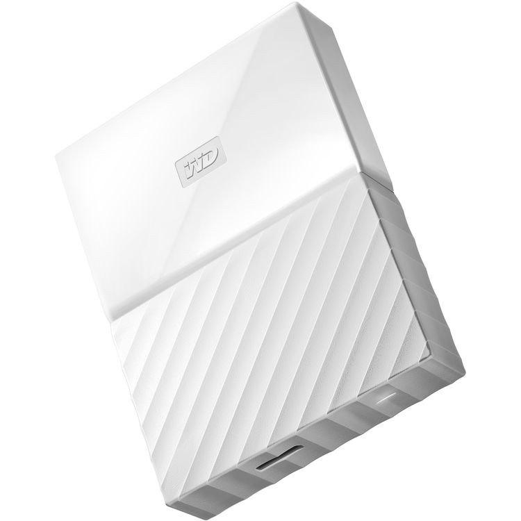 Western Digital WD MY Passport Portable 4TB White 2.5' Portable Usb3.0. Built-In 256-Bit Aes Hardware Encryption (WDBYFT0040BWT) (LS)