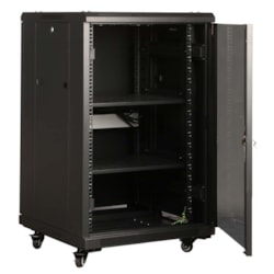 LinkBasic 18Ru 800MM Depth Server Rack Perforated Steel Mesh Door With 4X240V Fans And 8-Port 10A Pdu