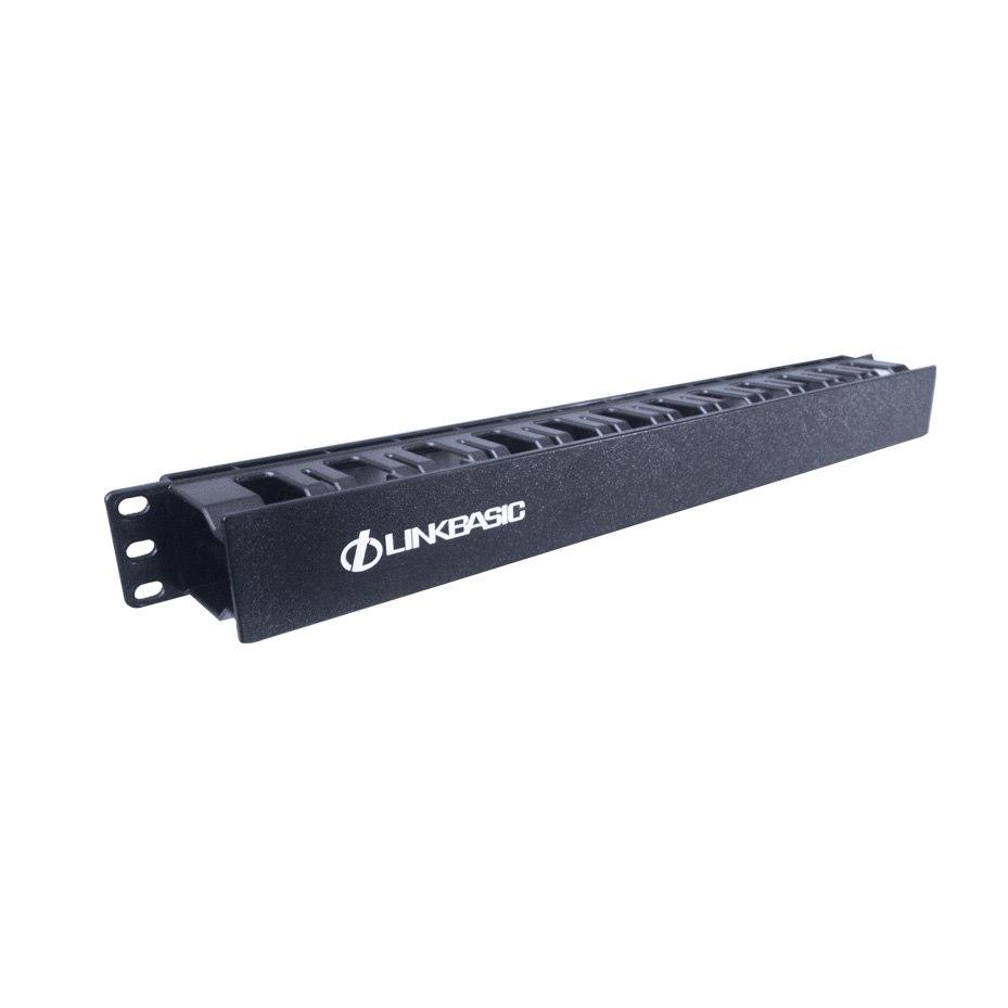LinkBasic 1Ru 19' Cable Management Rail 24 Slot Shallow (Plastic)