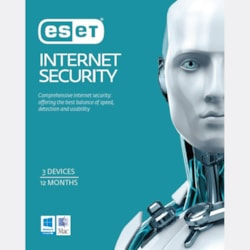 Eset Internet Security 3 Devices 1 Year Download 50-Pack Limited Time Only
