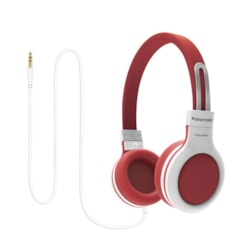 Promate 'Impulse' Kids Safe Universal On Ear Wired Headset - Red