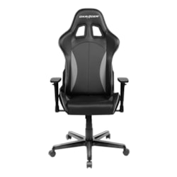 DXRacer F Series Gaming Chair, Sparco Style, Neck/Lumbar Support - Black & Carbon Grey