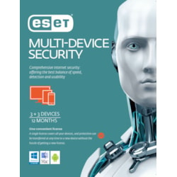 Eset Multi Device Security 3+3 1 Year Retail Download Card