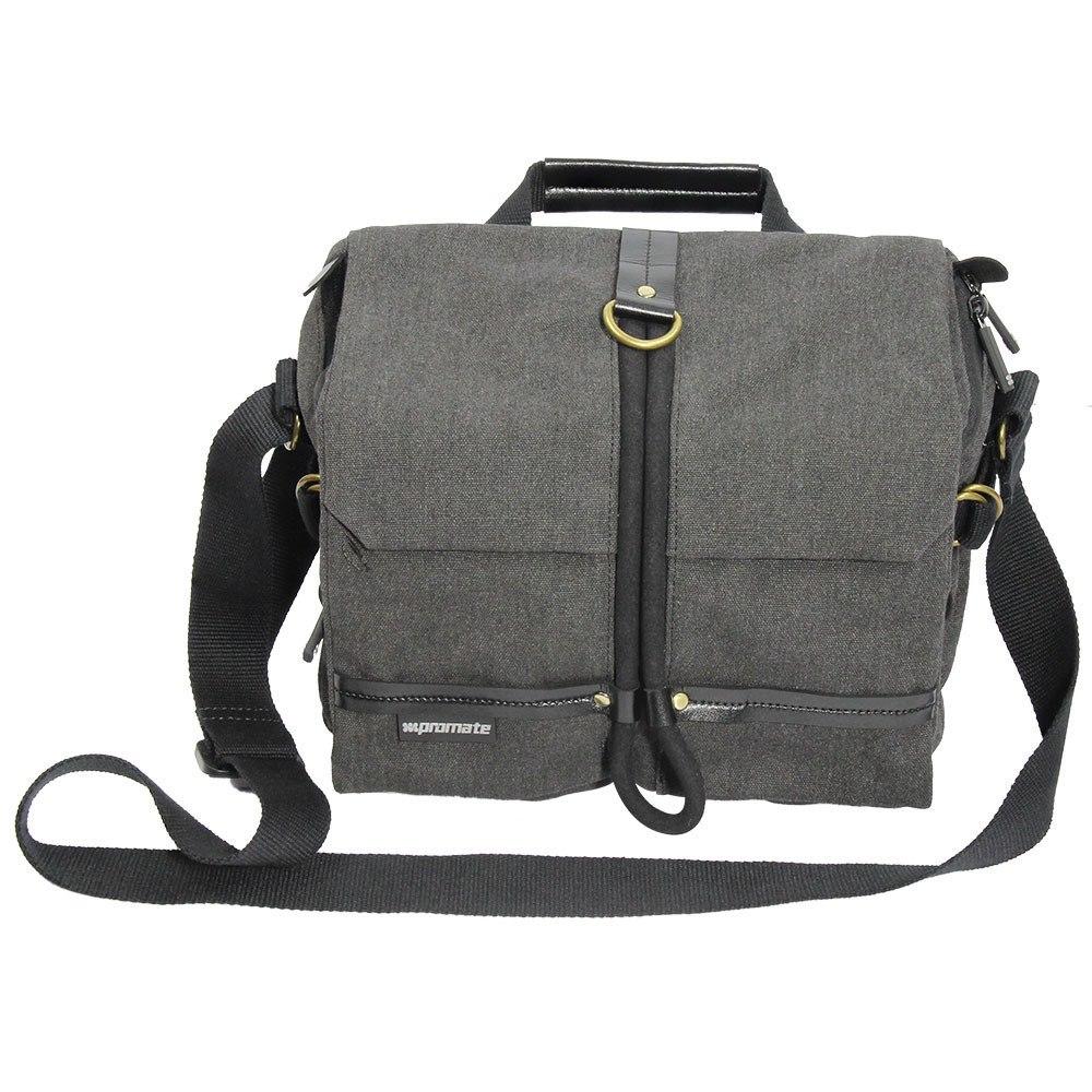 Promate 'xPlore-M'Contemporary DSLR Camera Bag/Adjustable Storage/Water Resistant Cover- Medium