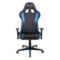 DXRacer F Series Gaming Chair, Sparco Style, Neck/Lumbar Support - Black & Blue