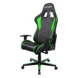 DXRacer FL08 (Ne) Series Gaming Chair, Sparco Style, Neck/Lumbar Support - Black & Green