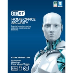 "Eset Home Office Security Pack €"" 5 Endpoints, 5 Android, 1 File Server, 1Y Digital Key Printed Card"