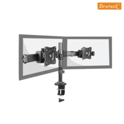 Brateck Outstanding Dual LCD Desk Mounts With Desk Clamp Vesa 75/100MM Up To 27'