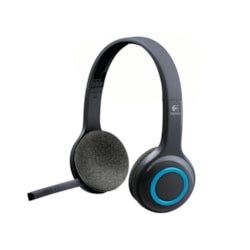 Logitech H600 Wireless Headset With Noise Canceling Microphone Tiny Nano Receiver 6HRS Rechargeable Battery Adjustable Headband & Ear Cups