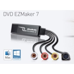 AVerMedia C039 EZMaker 7, Standard Definition Usb Video Capture Card , Analog To Digital Recorder, Rca Composite, VHS To DVD, S-Video, Cyberlink