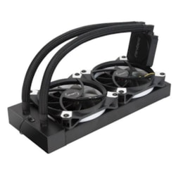 Antec Kuhler K240 Liquid Cpu Cooler, Low Profile, PWM Fan, Teflon Coated Tubing. Socket 2066, 2011, Am4, Am3, FMx.