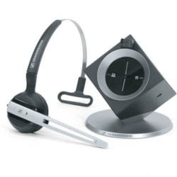 Sennheiser DW Office - Dect Wireless Office Headset With Base Station, For Desk Phone And PC, Convertible (Headband Or Earhook)