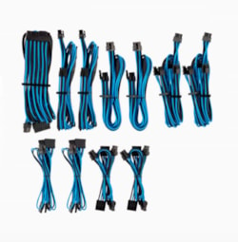 Corsair For Corsair Psu - Blue/Black Premium Individually Sleeved DC Cable Pro Kit, Type 4 (Generation 4)