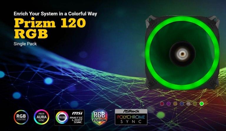 Antec Prizm 120 RGB Dual-Ring Design, Hydraulic Bearing, Led PWM Fan. 2 Years Warranty