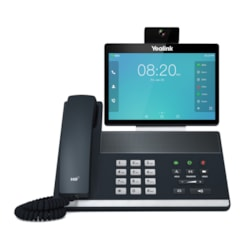 Yealink 16 Line Ip Full-HD Video Phone, 8'' 1280 X 800 Colour Touch Screen, HD Voice, Dual Gig Ports, Bluetooth, WiFi, Usb, Hdmi, 29 DSS Keys, Poe, Psu Not Included