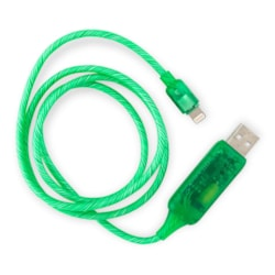 Generic Visible Flowing Usb Lightning Charging Cable - Green