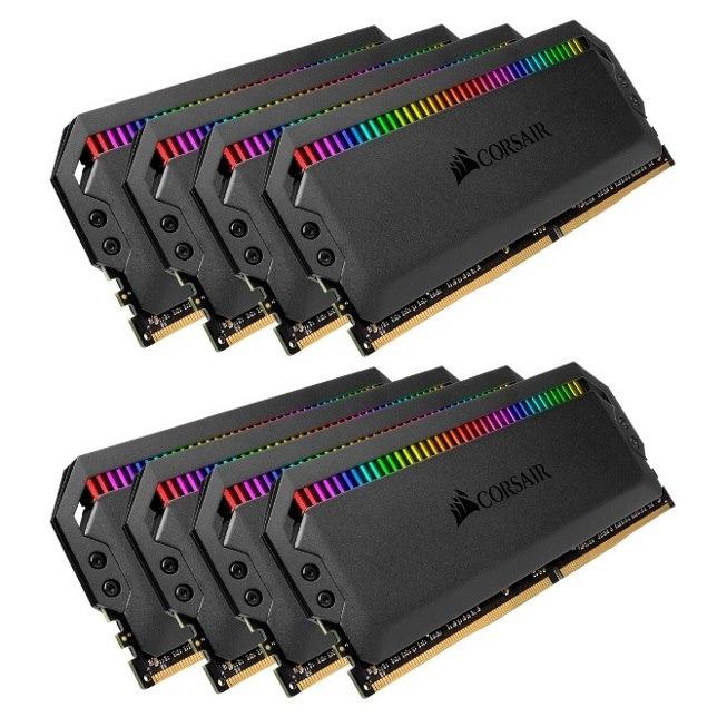 Corsair Dominator Platinum RGB 64GB (8x8GB) DDR4 3200MHz CL16 Dimm Unbuffered 16-18-18-36 XMP 2.0 Black Heatspreaders 1.35V Desktop PC Gaming Memory