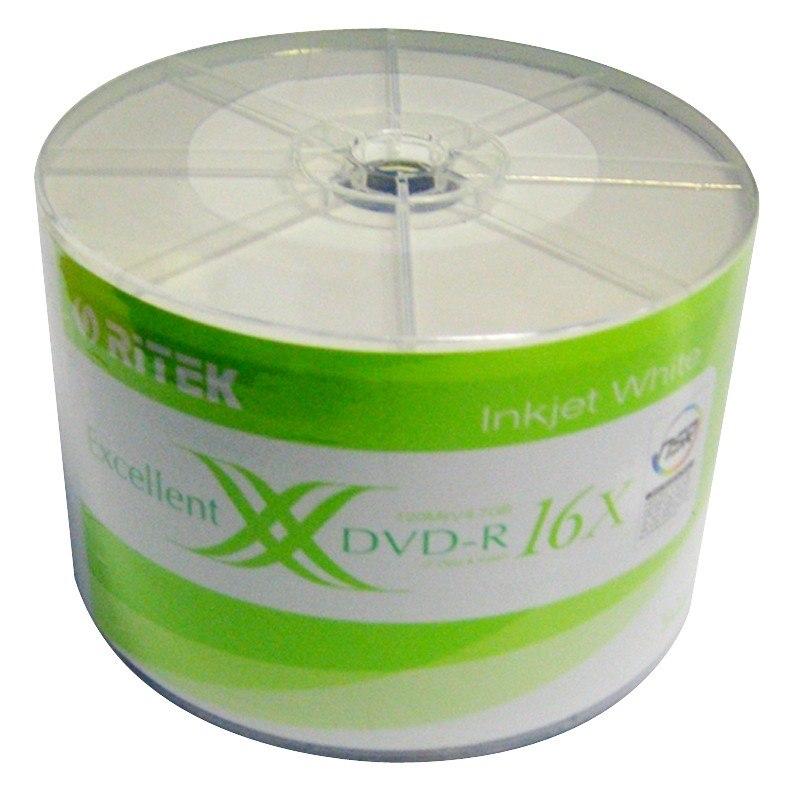Ritek DVD-R 16X 50PC Pack Printable