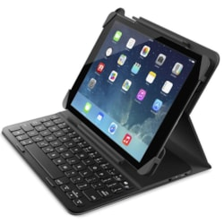 Logitech Belkin Qode Slim Folio Case Cover With Bluetooth Keyboard For iPad 2017 2018 Air Air 2 Ultra Thin Lightweight Water Repellent ~Mplt-Slimfolio
