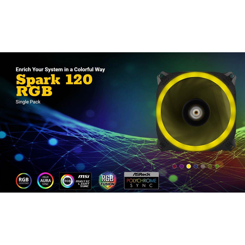 Antec Spark 120 RGB Dual-Ring Design, Hydraulic Bearing, Led PWM Fan. 2 Years Warranty