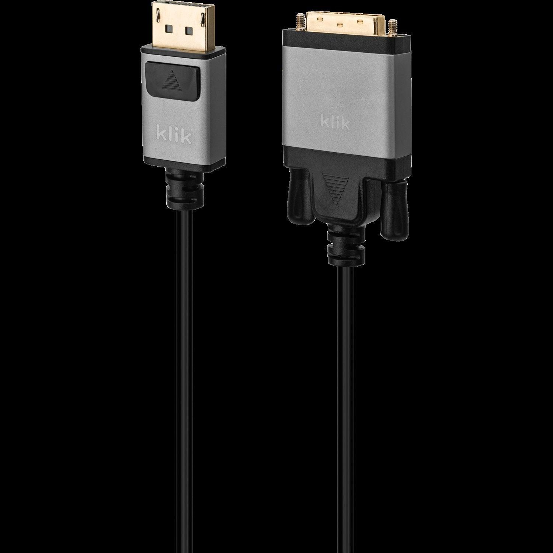 Klik 2MTR DisplayPort Male To Single Link Dvi-D Male Cable