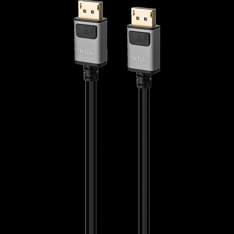 Klik 1.5MTR DisplayPort Male To DisplayPort Male Cable